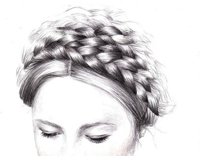 Braided Hairstyle Illustrations