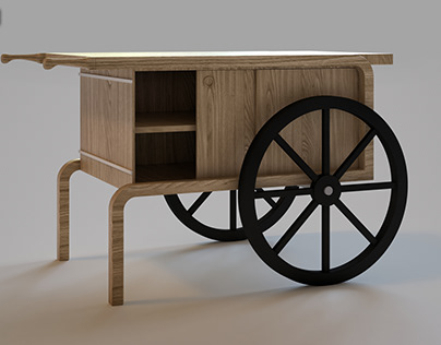 Amasya Et - Wooden Stand With Wheels