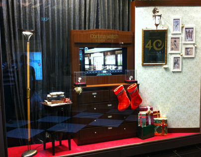 Cortina Watch 40th Anniversary Window Display