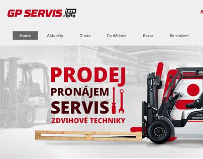 Webové stránky firmy GP servis