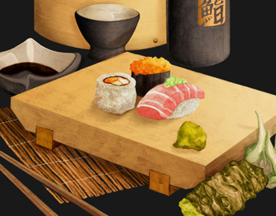 Sushi Illustration