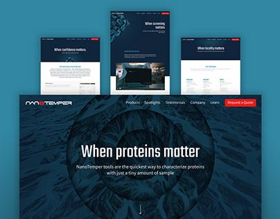 NanoTemper Website Facelift