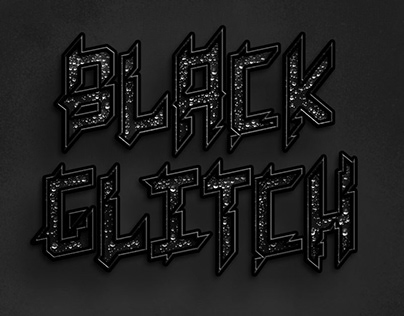 Black Glitch - Custom Typeface