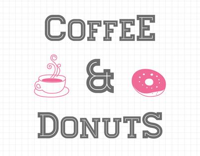 Coffee Donuts Wedding Invitation