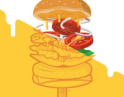 Summerburger: Sticker & Tee - 2016