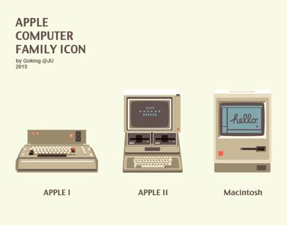 APPLE COMPUTER FAMILY ICON