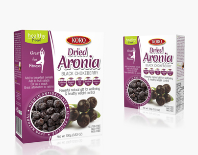Packaging design for Koro Dried Aronia fruit