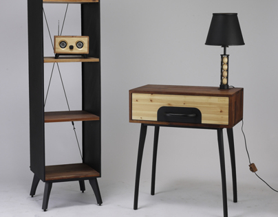 Industrial concept furniture set