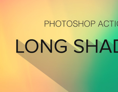 Long Shadow Generator - Free Photoshop Action