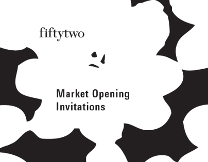 Fiftytwo Showroom, Market Opening Invitations