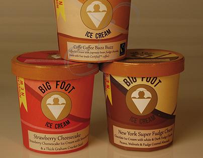 Big foot - Packaging pot de glace