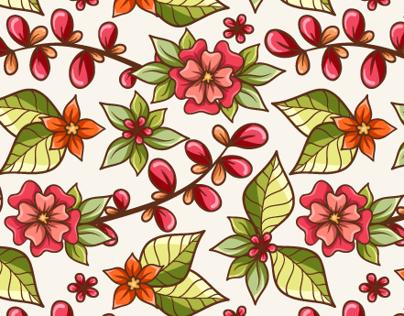 Dream in flowers. Patterns.