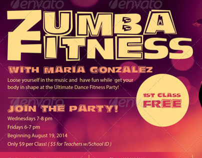 zumba flyers templates