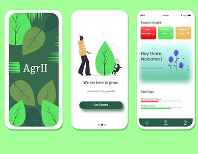 Agrii- A smart farming app sample design