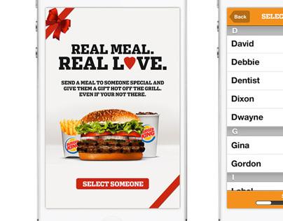 Burger King Meal Love