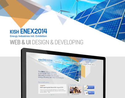 Web & UI Design | Kish ENEX 2014