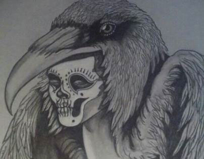 Harpy with Raven