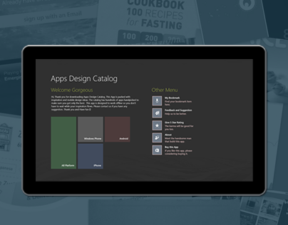 Apps Design Catalog (Windows 8 Apps)