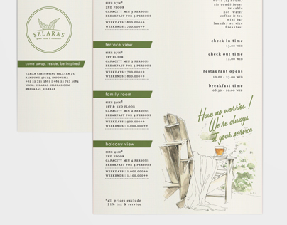 Selaras Guest House and Restaurant Stationary