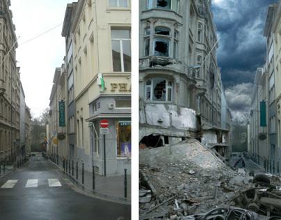 Photomanipulation: Brussels earthquake