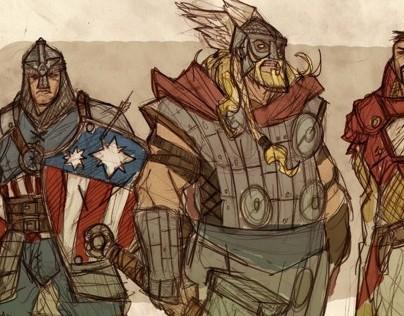 Avengers Fantasy Re-Design