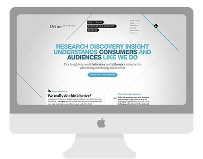 Define research & insights web design