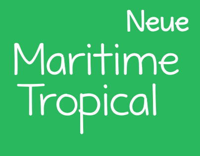 [Font] Maritime Tropical Neue