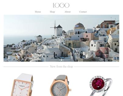 Minimalist website for shop