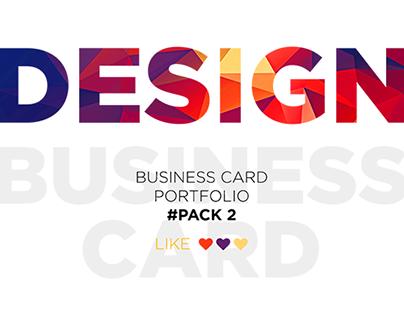 Business card portfolio #Pack 2
