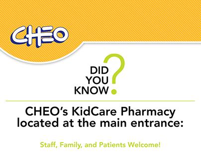 Bilingual CHEO Pharmacy Posters