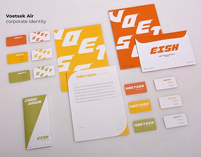 VOETSEK AIR Corporate identity