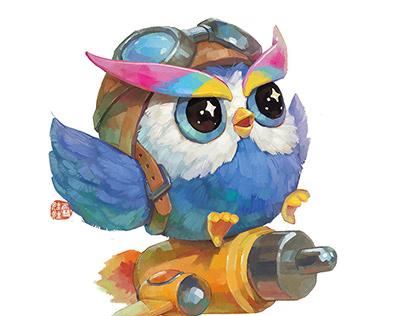 猫头鹰小可爱(一个商稿)