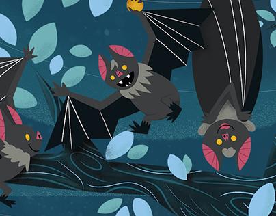 Ilustração Nestlé: Morcegos
