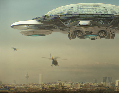 Spaceship over Madrid