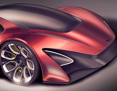 Mclaren Supercar Sketch Project