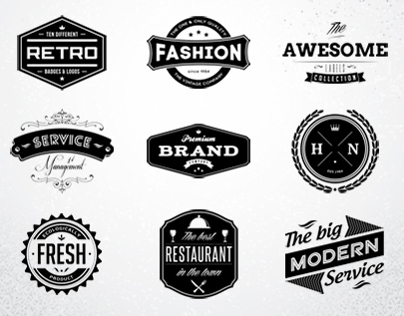 10 retro badges logos vol 1 psd template on behance