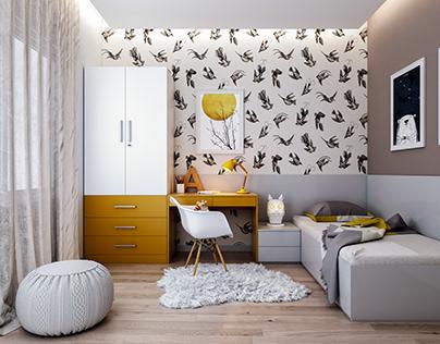 Kids Bedroom Design I 3D Visualization