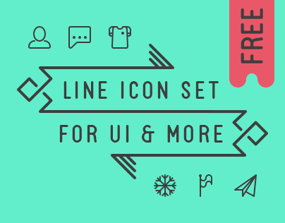 Line icon set for UI & more // Infinitely scalable