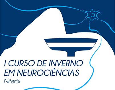 """Logotipo e Cartazes """"Curso de Férias em Neurociências"""""""