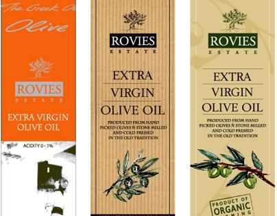 Rovies Estate / Olive Oil & Olives Labels