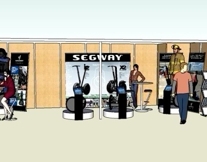 Scenographie et preparation salon Milipol - Segway