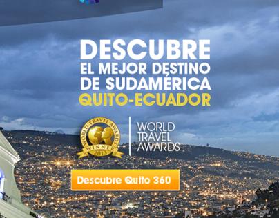 Ministerio de Turismo Ecuador - Landing page Quito
