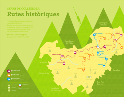 Route Map (Collserola mountain range. Barcelona)
