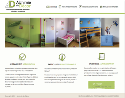 Alchimie du Décor - Webdesign, intégration, logo