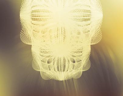 Vector face poster