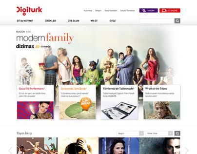 Digiturk // Web Site Re-Design