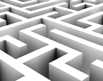 Endless Loop of a Maze or Labyrinth – 2 Styles