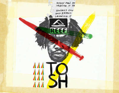 REEF PETER TOSH SANDAL CAMPAIGN