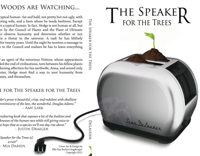 The Speaker for the Trees book cover layout and design