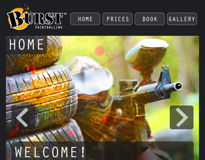 BURST Paintballing Website Design